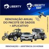 Renovação anual pacote dados LS 500 Liberty SAT